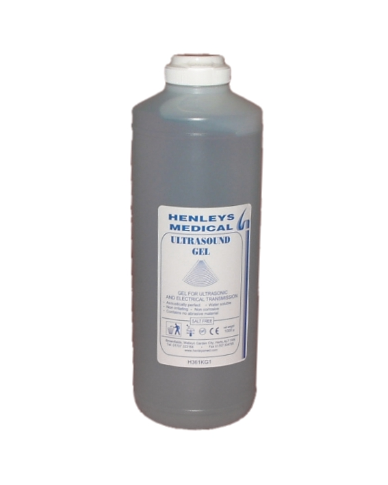H361KG1 - 1000g Blue Ultrasound Gel Bottle with Flip Top Dispensing Refill Cap