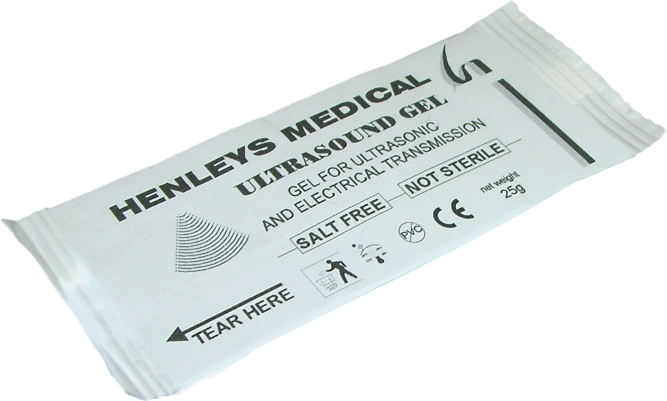 H36125GC - 25g Clear Ultrasound Gel Single Shot Sachet