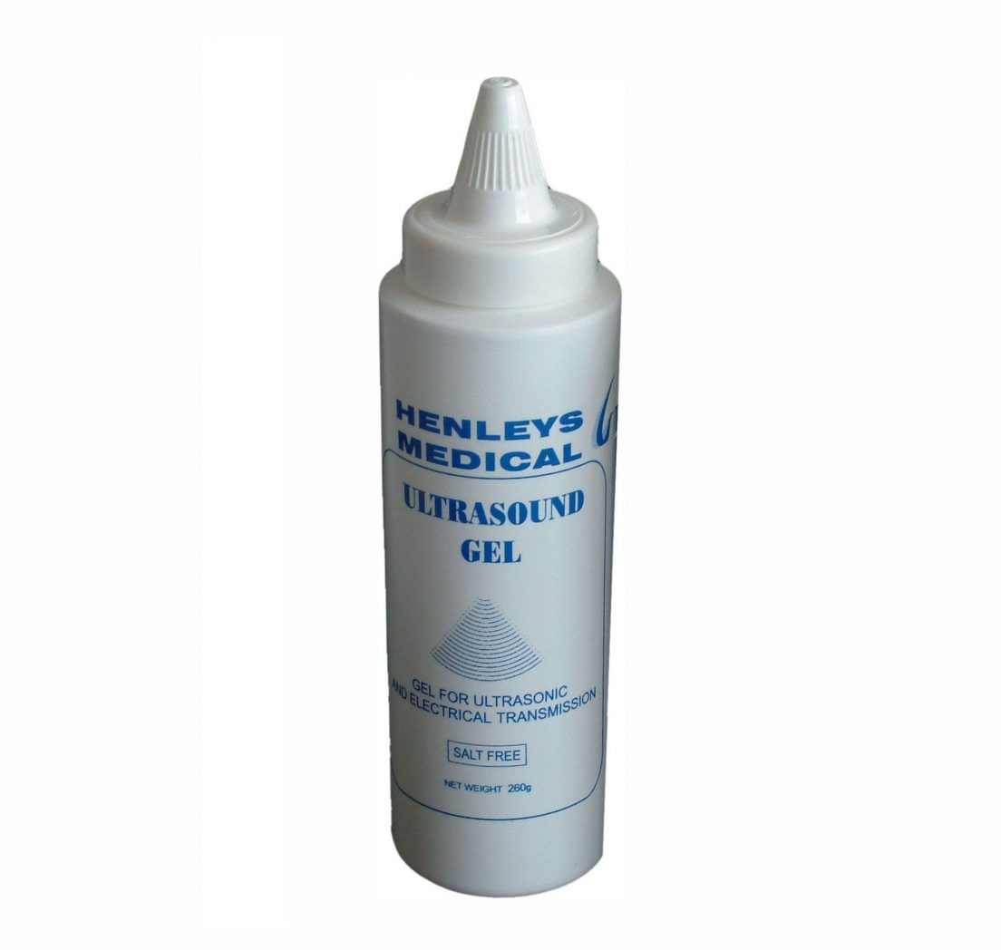 H361260G - 260g Blue Ultrasound Gel Bottle with Twist Top Dispensing Cap