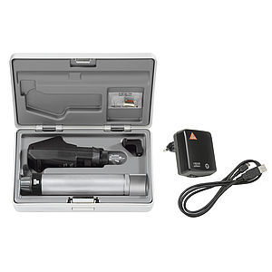 BETA200 Retinoscope Sets with BETA Battery Handle with USB cord and plug-in Power Supply (BETA200 Streak Retinoscope in XHL, 1x spare bulb and a hard case) 3.5V XHL C-034.27.388