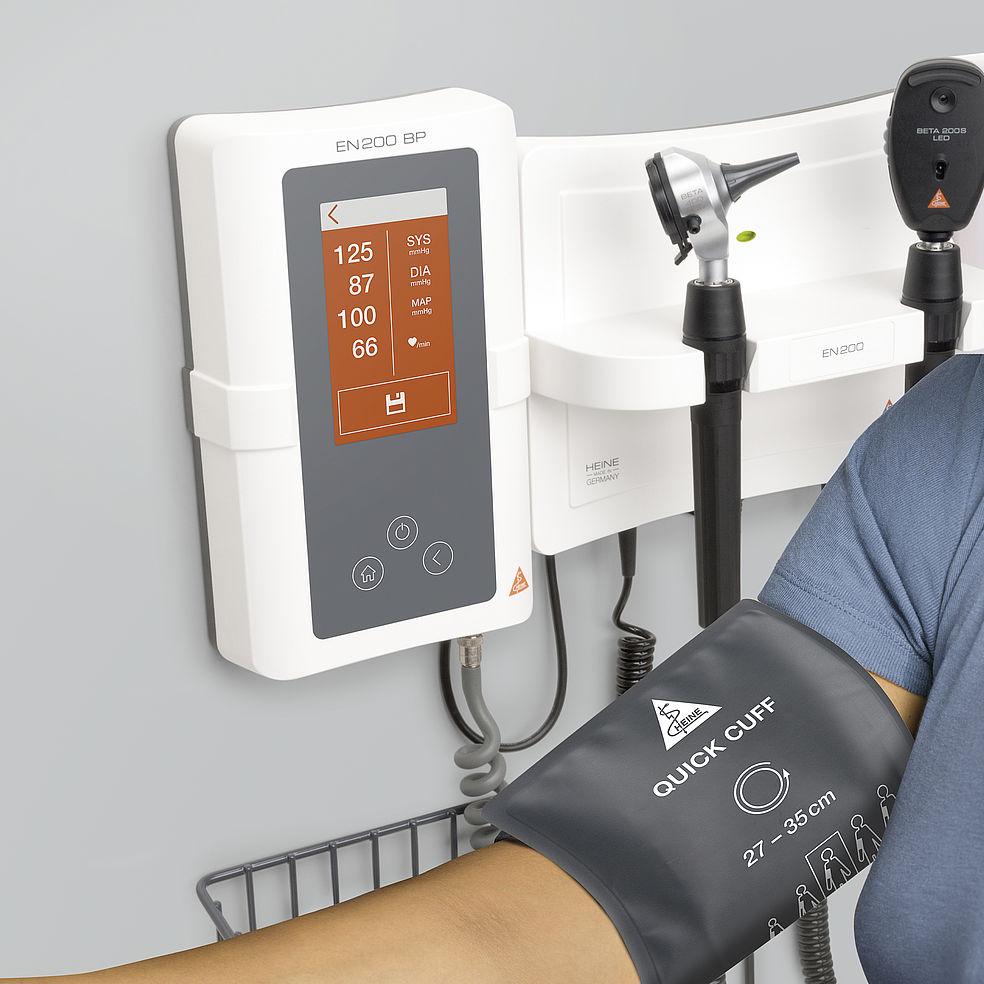 HEINE EN200 Wall Diagnostic Set with EN200BP Digital Blood Pressure