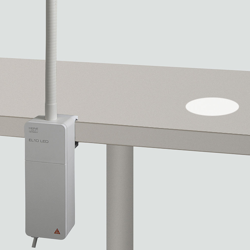 HEINE EL10 Exam Light with clamp for table top mounting