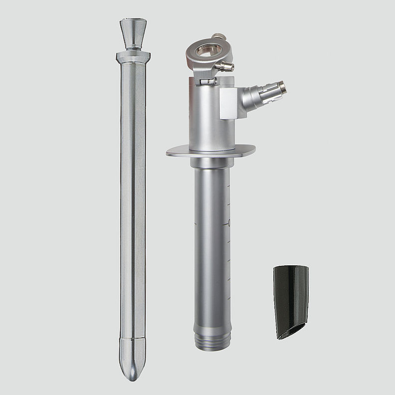 E-003.19.213 HEINE Fibre Optic Proctoscope Complete With Obturator, Viewing Window, Swivel Lens and End-Piece